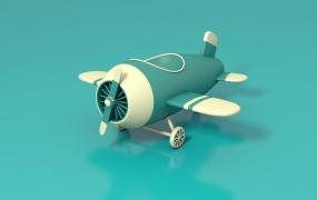 C4D教程   C4D卡通飞机建模渲染中文视频教程
