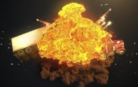 C4D教程  C4D使用TFD制作汽车爆炸翻滚场景特效中文视频教程