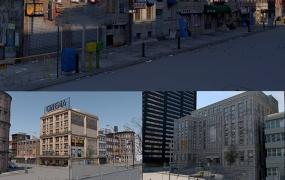 5套C4D城市街区模型合集城市街区 街道 老城市 城市高楼 高楼大厦 楼房 城市街道
