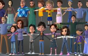 21个卡通人物3D模型合集 TOON CHARACTER BUNDLE