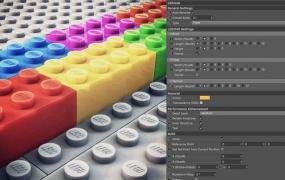 乐高玩具C4D模型预设 Lego4D V1