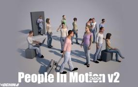 C4D虚拟场景人物运动模型插件 People In Motion v2 R17/R18 Win/Mac