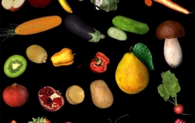 瓜果蔬菜C4D模型预设