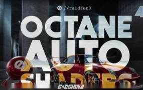 22个Octane汽车车漆材质球预设 Gumroad Raidzer Auto Shaders for Octane 4.0+