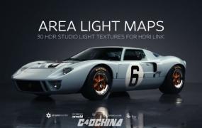 灰猩猩30组室内摄影棚环境渲染C4D灯光预设 Area Light Maps for HDRI Link