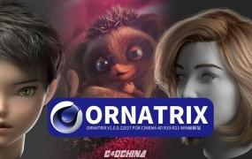 C4D头发毛发羽毛模拟插件中英版本,Ornatrix v1.0.0.22027 for Cinema 4D R19-R21 Win破解版
