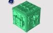 未来科幻多边形城市预设C4D插件 Poly Greeble 1.01 for Cinema 4D R15-S22