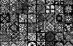 400种欧式花纹复古图案Alpha贴图合集 FlippedNormals – 400 Vintage Alpha