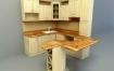 C4D模型 室内模型-小角落厨房3D模型 C4D模型 含贴图 含材质
