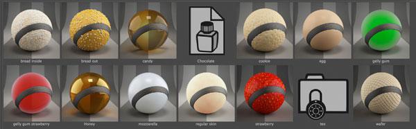 C4D VRAY材质合集RenderKing - Vray Texture Pack v2 - C4D爱好者的集结地