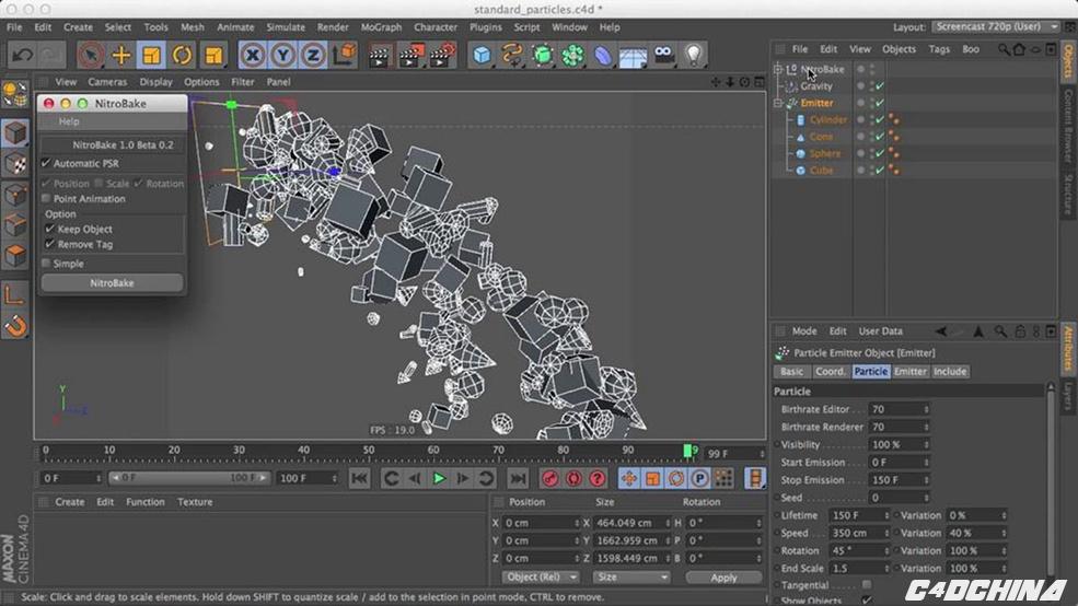 C4D动力学烘焙关键帧插件Nitro Bake 2 0 - C4D爱好者的集结地