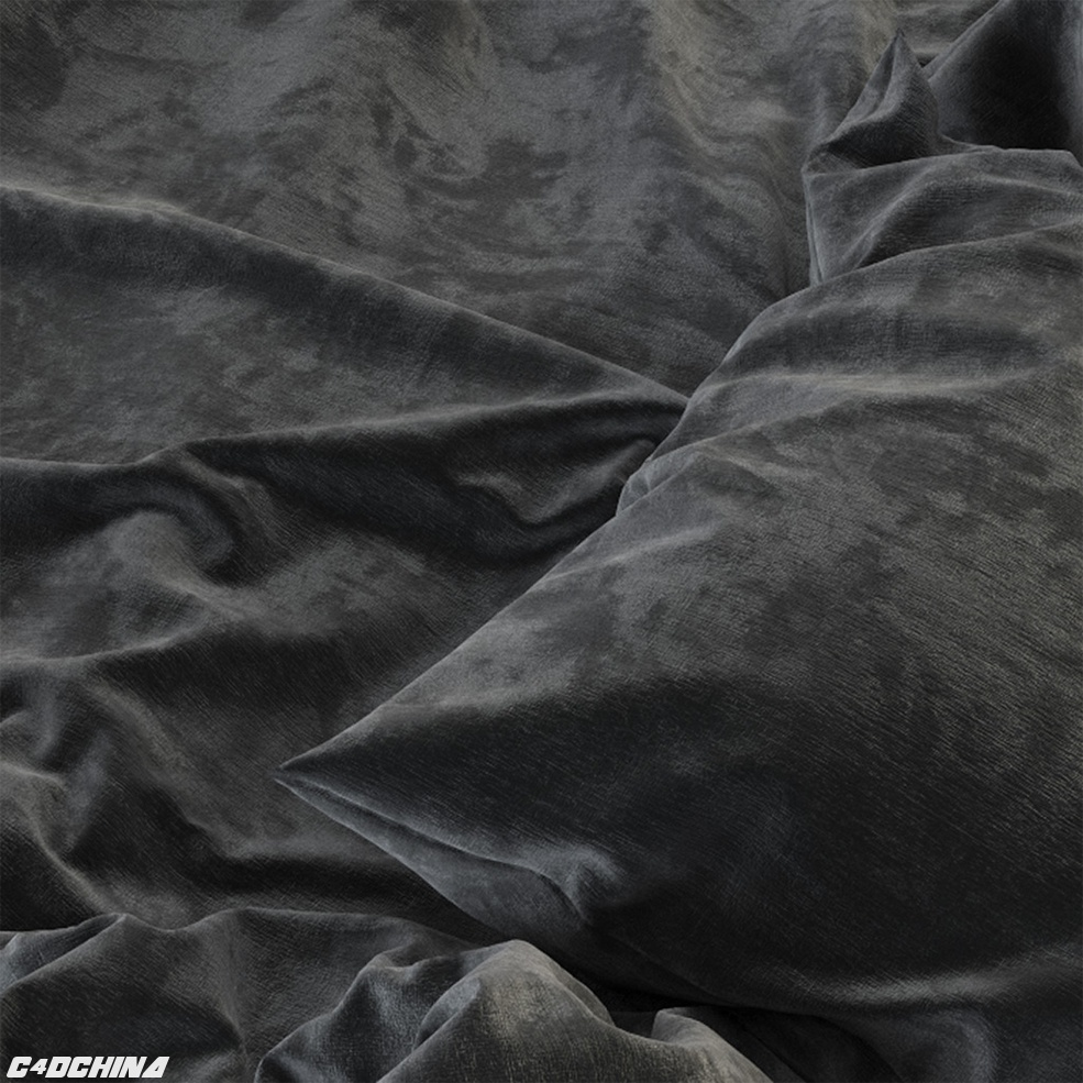 3款C4D FOR VRAY 天鹅绒材质VELVET SHADER COLLECTION FABRIC SHADER
