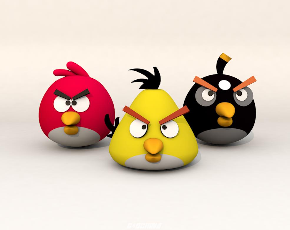 百汇 C4D模型 愤怒的小鸟卡通角色C4D模型 含贴图 含材质 C4D模型 090024q27phftfkz2pa3hk