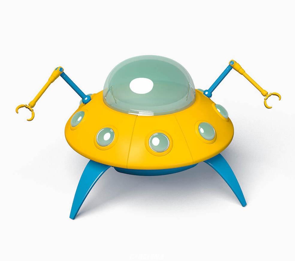 百汇 C4D模型 卡通UFO科幻飞船C4D模型 含贴图 含材质 C4D模型 095703emuj4kjmina9ji4g