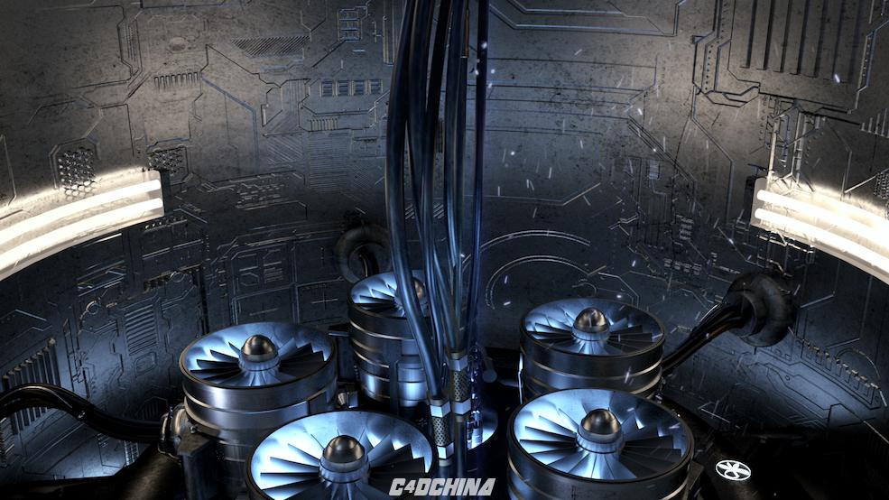 百汇 C4D科幻发动机场景模型工程 Engine C4D模型 101045s0q2noqq9dj0sq9c