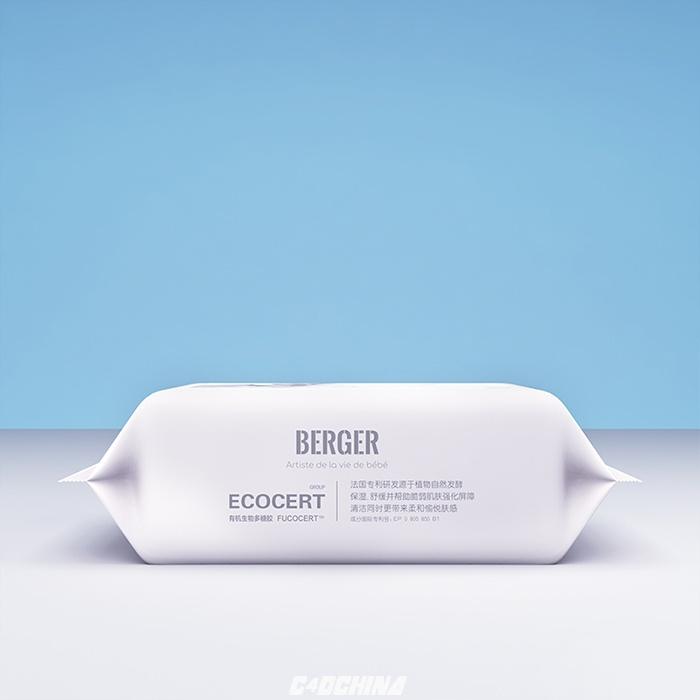 百汇 C4D模型 湿纸巾的包装C4D模型 含材质 含贴图 C4D模型 105325qpbqukwzqyq2yjdb